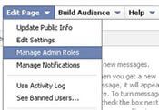 Facebook Fan Page - Manage Admin Roles
